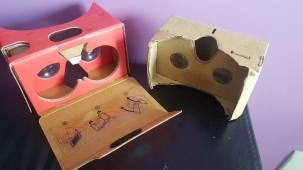 Raquels cardboard headsets