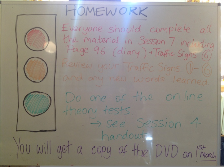 Whiteboard on 15 February