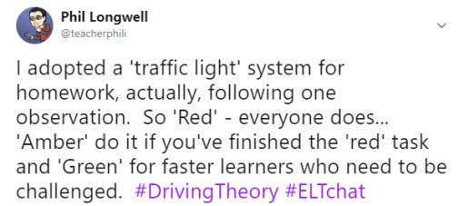 Traffic Light system for homework