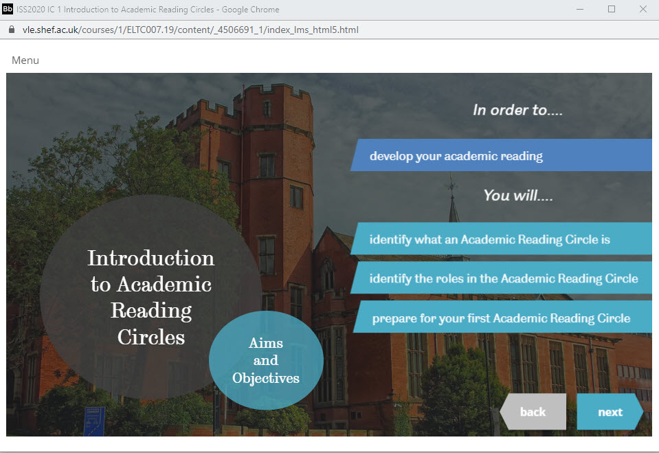 Introduction to Academic Reading Circles - Interactive course for students (IC)